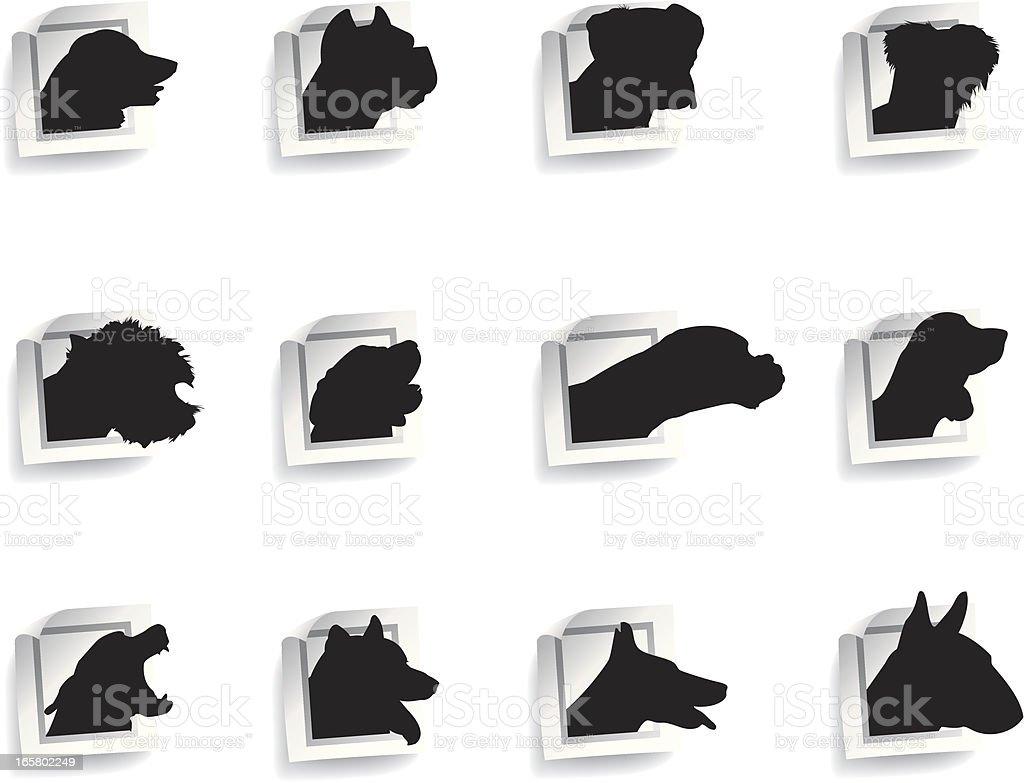 Dog sticker vector art illustration