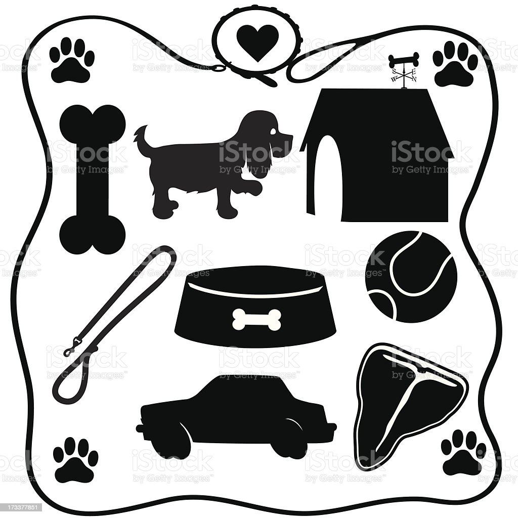 Dog Stuff Silhouettes royalty-free dog stuff silhouettes stock vector art & more images of animal