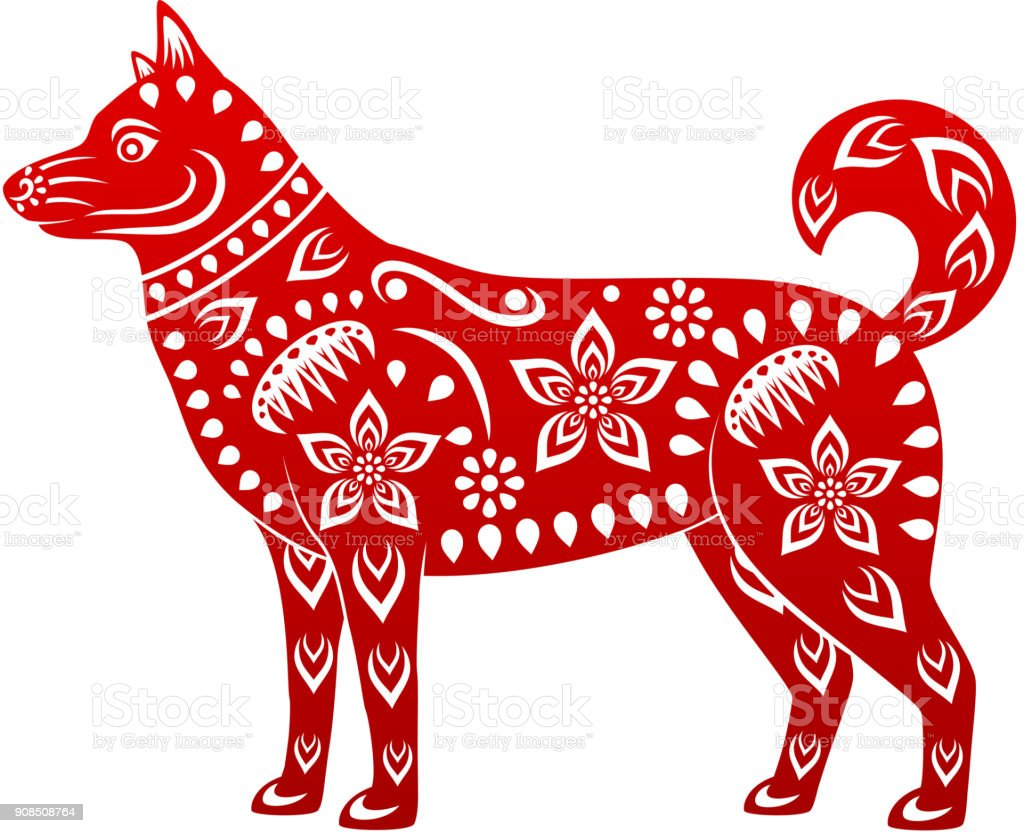 dog symbol of chinese new year 2018 royalty free dog symbol of chinese new