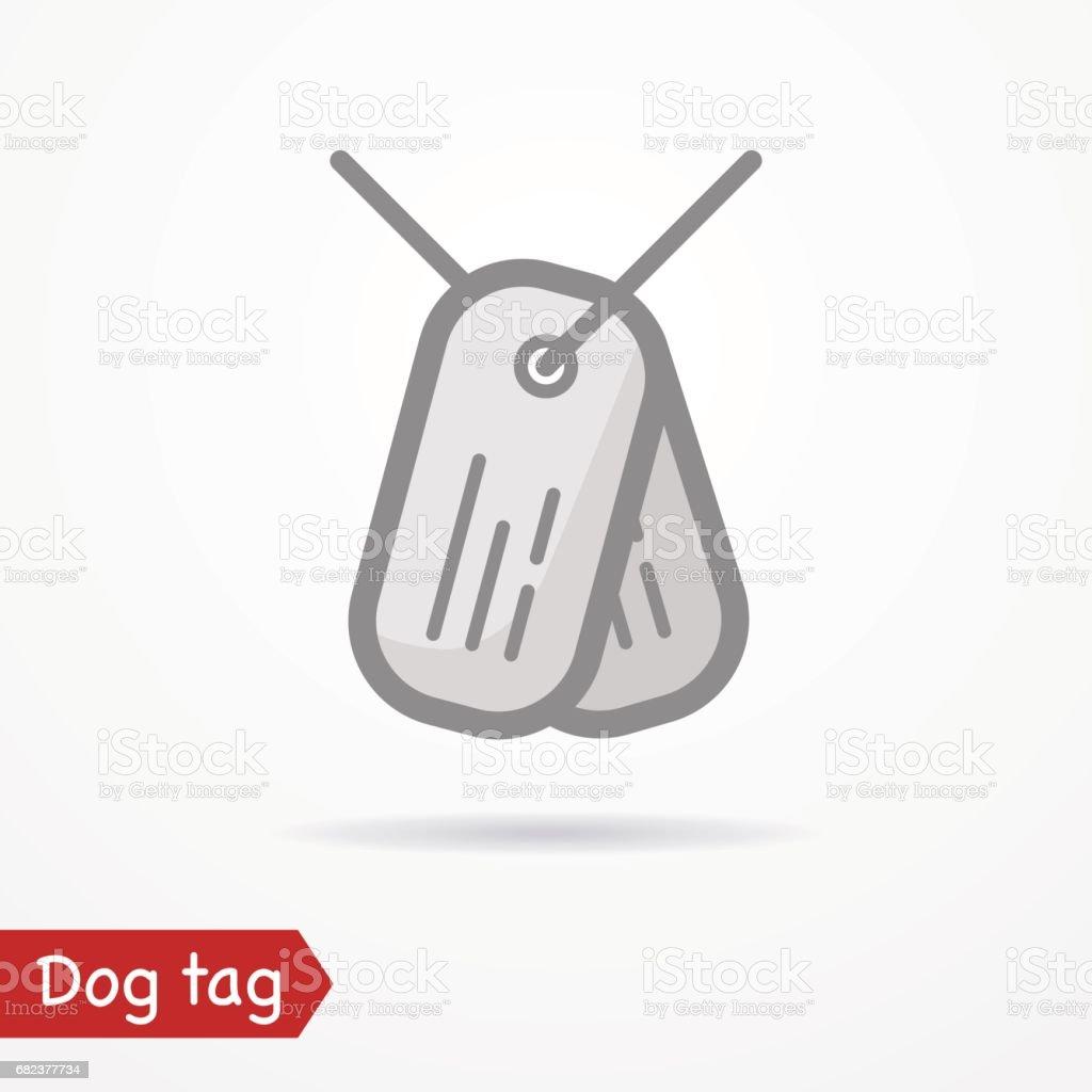 Dog tag vektor symbol royaltyfri dog tag vektor symbol-vektorgrafik och fler bilder på abstrakt