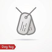 Dog tag vector icon