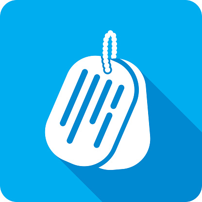 Dog Tags Icon Silhouette