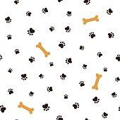 Dog theme seamless background