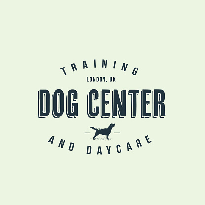 Dog training center badge templates. Design elements for logo, label, icon. Vector illustration