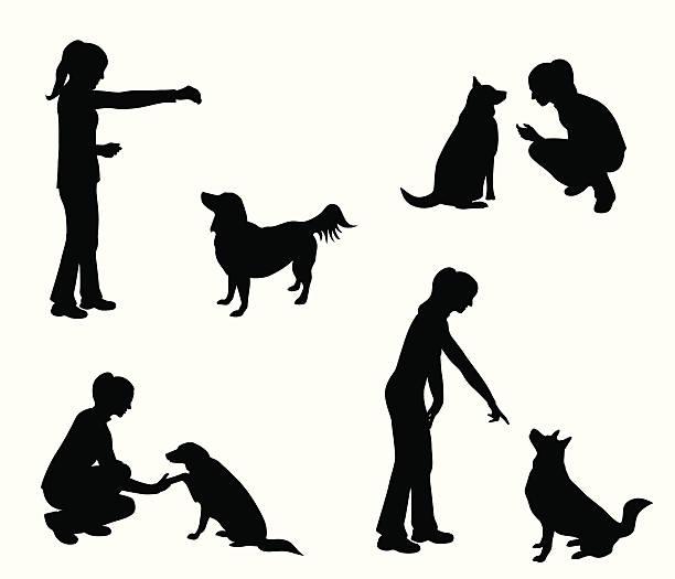 ilustraciones, imágenes clip art, dibujos animados e iconos de stock de dogtraining - training