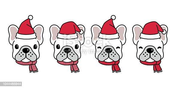 hund franz sische bulldogge weihnachten weihnachtsmann. Black Bedroom Furniture Sets. Home Design Ideas