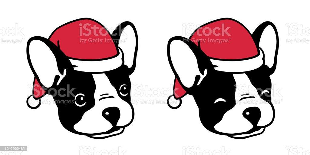 Hund Französische Bulldogge Weihnachten Weihnachtsmann Xmas Mütze ...