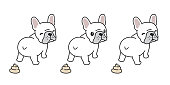 dog vector french bulldog poo cartoon character illustration symbol doodle