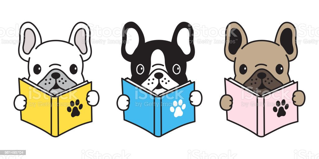 Chien Bouledogue Francais Carlin Logo Icone Illustration