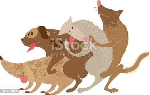 Vector illustration which depicts a dog