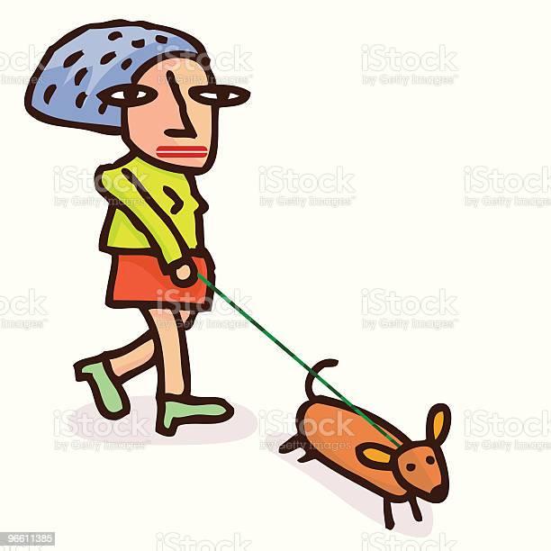 Dog Walk-vektorgrafik och fler bilder på Blandrashund