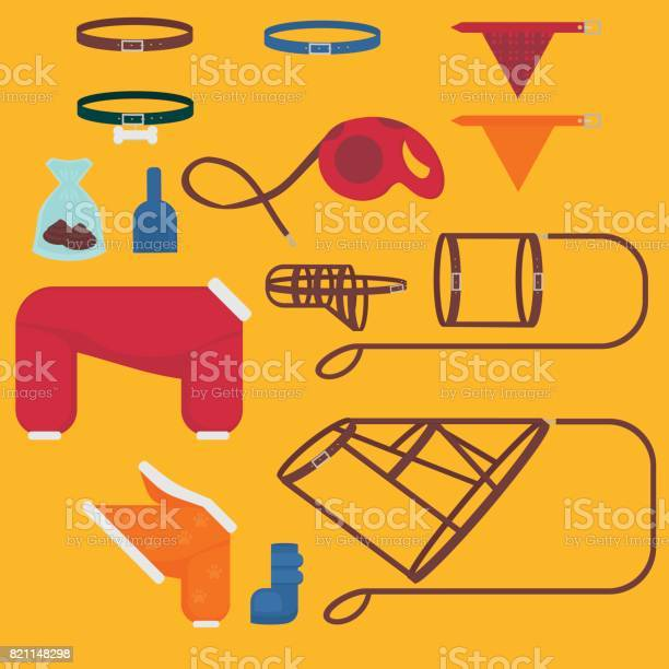 Dog walking elements flat isolated set pet walk items doggy fashion vector id821148298?b=1&k=6&m=821148298&s=612x612&h=986dlpysgapd78gajuyjnfrhl3eritxfgmr7iwyj  w=