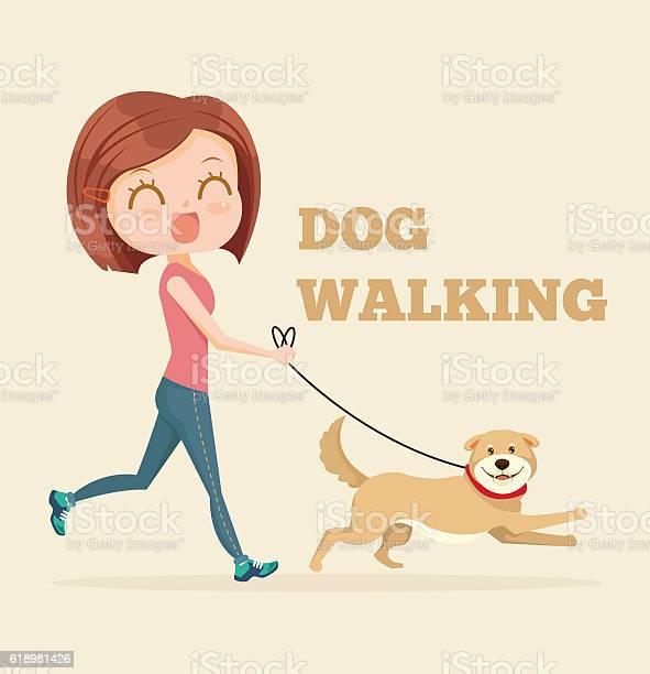 Dog walking service vector flat cartoon illustration vector id618981426?b=1&k=6&m=618981426&s=612x612&h=wreblz9hyx8vodvfu gztc8azdzgds2yljk0 qe2b6g=