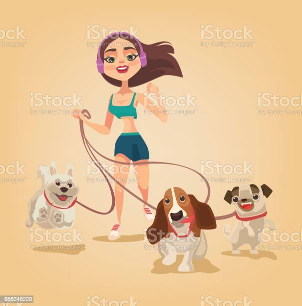 Dog walking service woman character run with pets vector id658248220?b=1&k=6&m=658248220&s=612x612&h=38njeteur fyow0xep f5zu82eynbdysdmoxfuv8u1o=