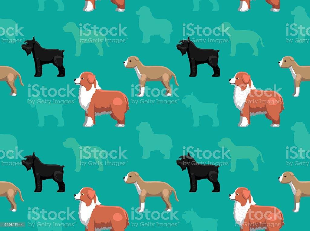 Dog Wallpaper 16 vector art illustration