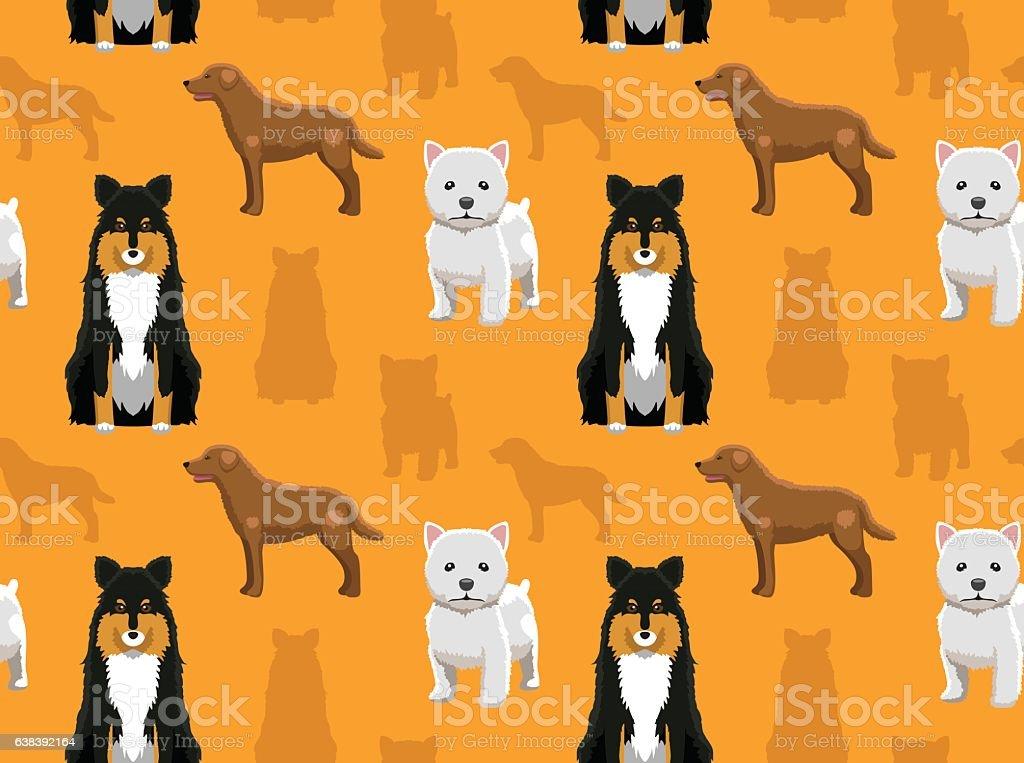 Dog Wallpaper 39 vector art illustration