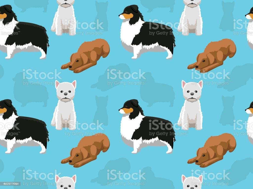 Dog Wallpaper 40 Stock Vektor Art Und Mehr Bilder Von