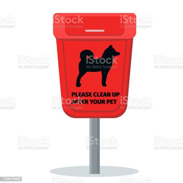 Dog waste bin please clean up after your pets vector id1206428387?b=1&k=6&m=1206428387&s=612x612&h=x tf4nemmcmuoshmrwco3kcoxw i9ugesfkyl7bbka4=