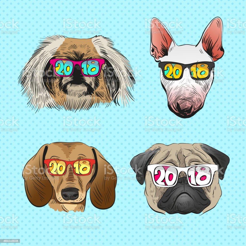 Dog Wearing Virtual Reality Glasses Year Of The Dog 2018 Fashion ...