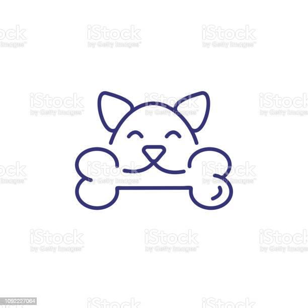 Dog with bone line icon vector id1092227064?b=1&k=6&m=1092227064&s=612x612&h=yzik5ajqrimmor7xbyux4tejebo2ehkx j4n0yqccx4=