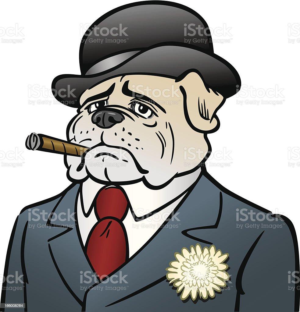 Coloriage Bouledogue Anglais.Chien Avec Cigare Vecteurs Libres De Droits Et Plus D Images