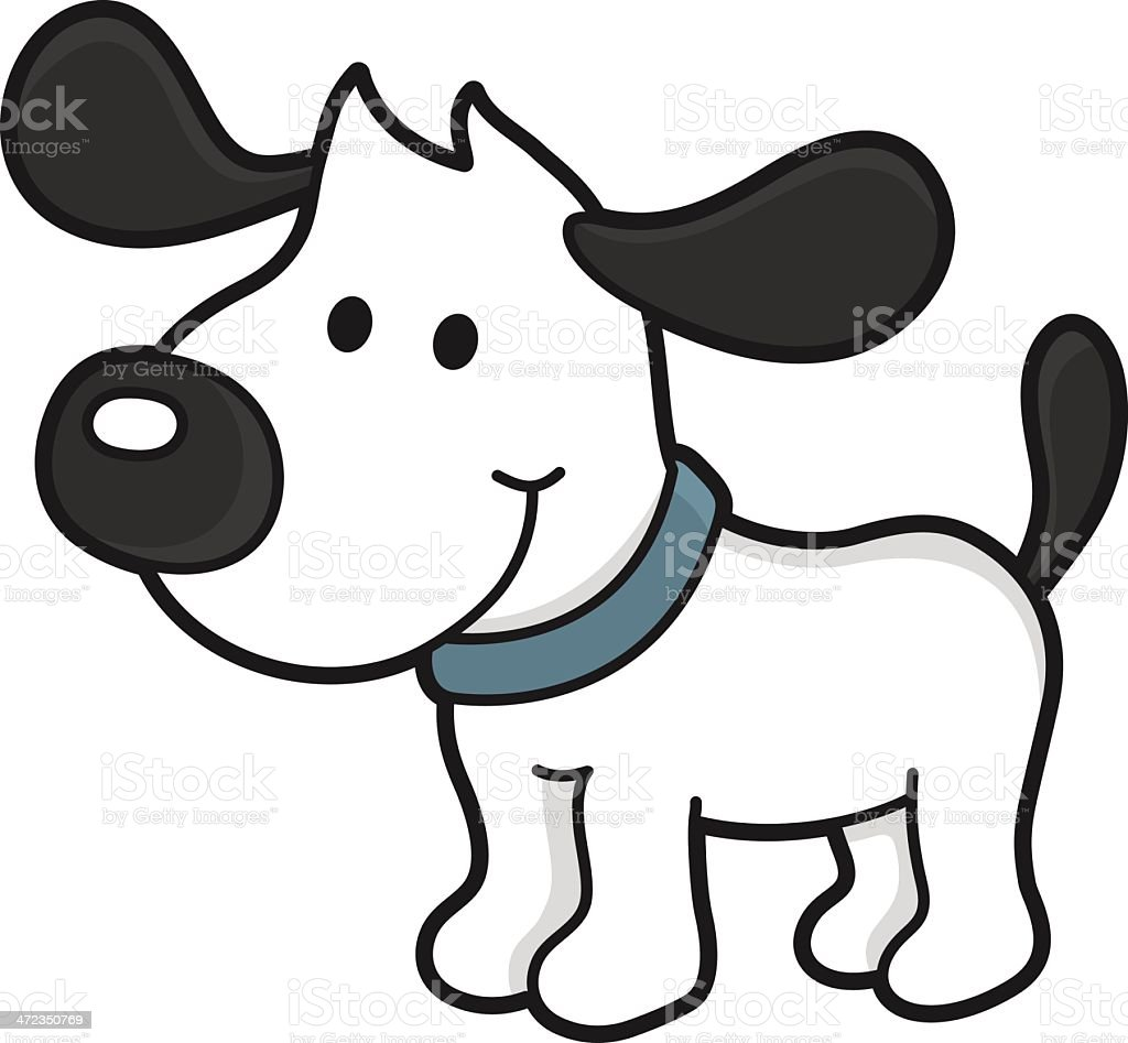 Dog with collar royalty-free stock vector art
