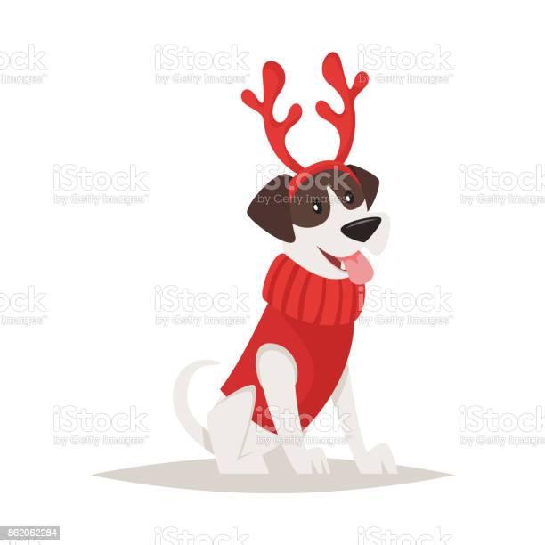 Dog with deer christmas horns vector id862062284?b=1&k=6&m=862062284&s=612x612&h=fpw  qiylpo8gx gyy5m3fg1cmxqhs0zxr0fe ov92o=