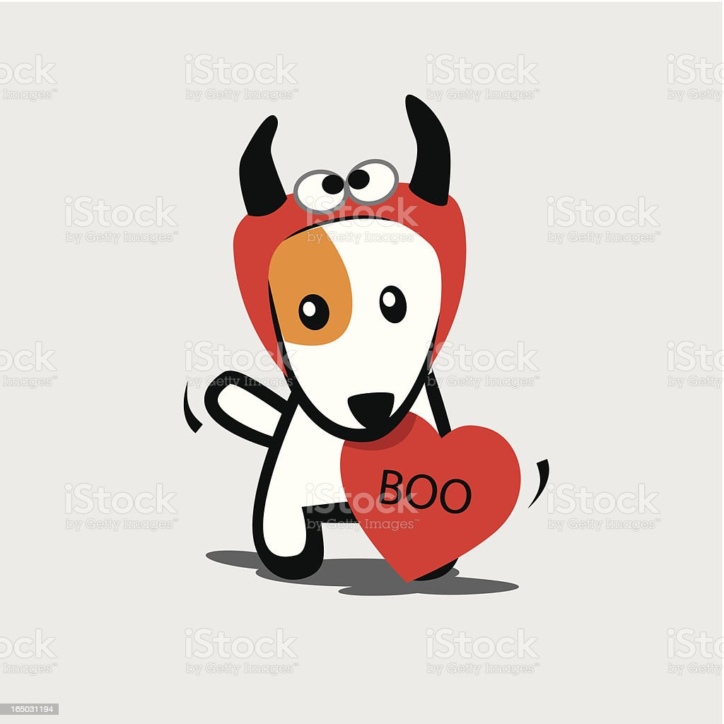 Dog with Devil Costume royalty-free stock vector art