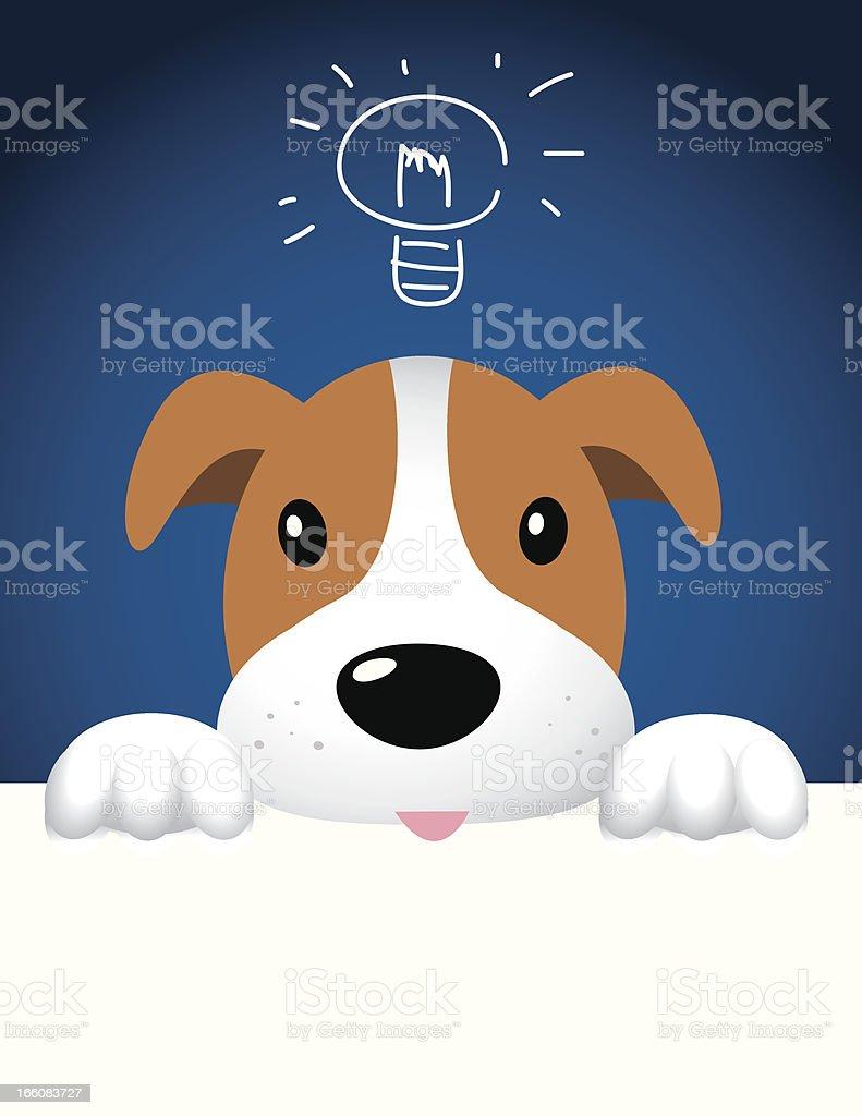 Dog with Idea vector art illustration