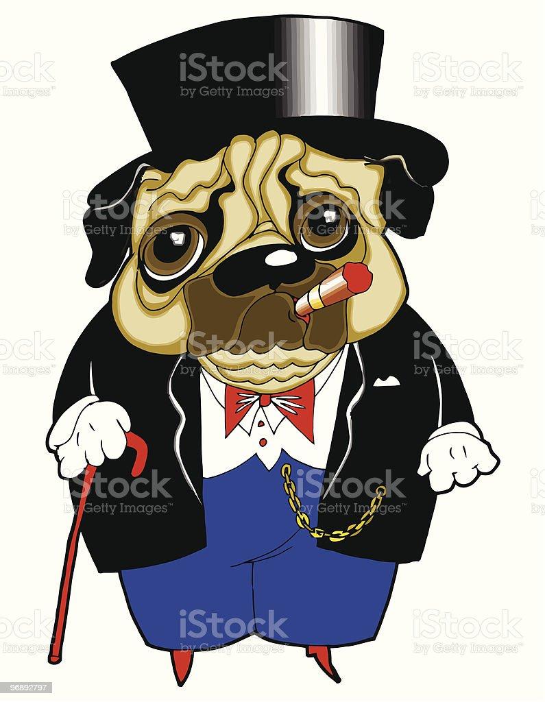 dog-capitalist royalty-free stock vector art
