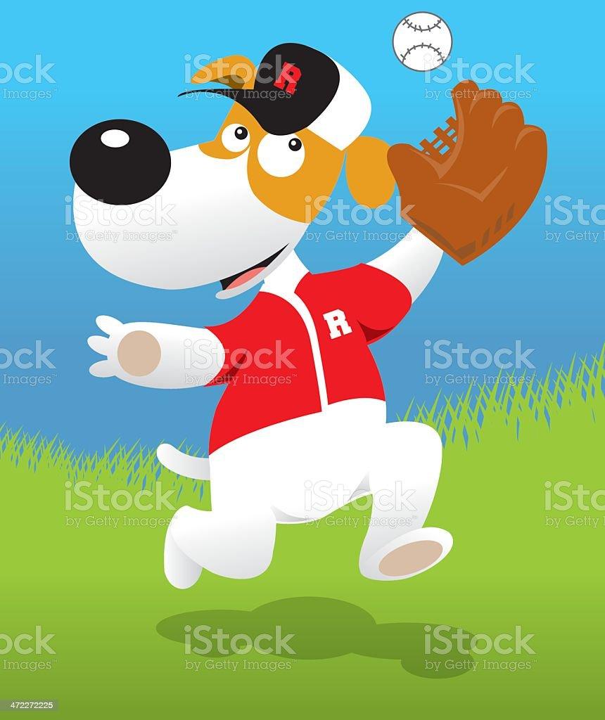 Doggy Baseball royalty-free stock vector art