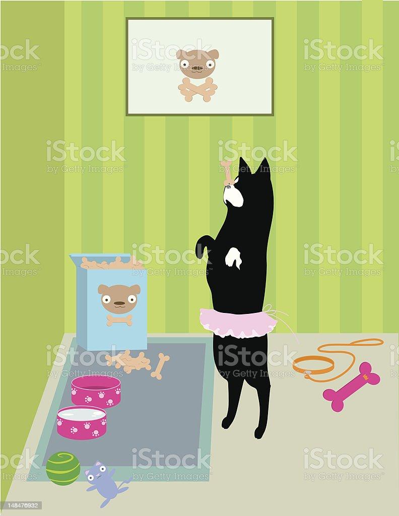 Doggy Dance vector art illustration