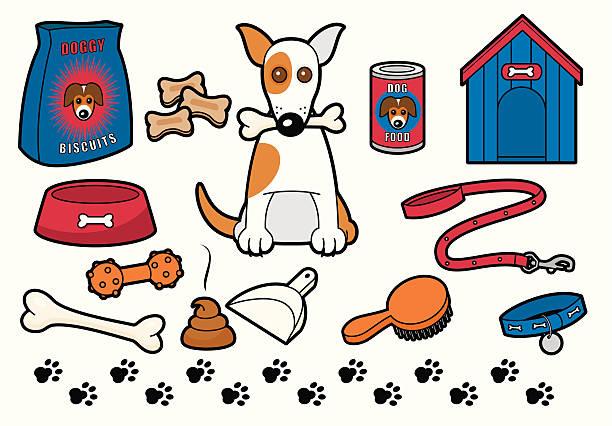 doggy stuff - dog treats stock illustrations