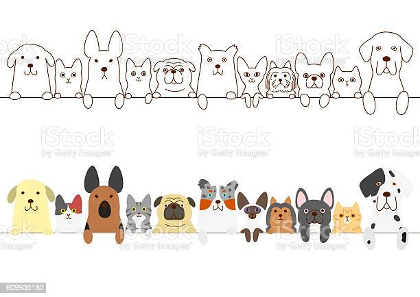 Dogs and cats border set vector id609935182?b=1&k=6&m=609935182&s=612x612&h=iw2qqfhv8jilrjnkatcouh504owhph7rwfzfnobf4g4=
