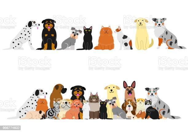 Dogs and cats border set vector id956774602?b=1&k=6&m=956774602&s=612x612&h=f87ims8cw 1roza9fuyczx4zpireyhu8taw90jxddo0=