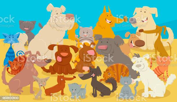 Dogs and cats cartoon animal characters vector id958820830?b=1&k=6&m=958820830&s=612x612&h=9sk msyeraquirc44xpj06oisgnqtoafnursoxkbykw=