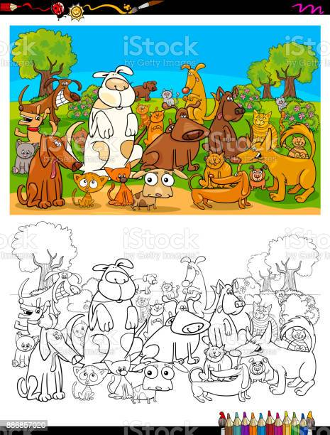Dogs and cats characters group color book vector id886857020?b=1&k=6&m=886857020&s=612x612&h=bx02 0pghejkihwwvky3c34kfrrih 4c9dpdslotrqa=
