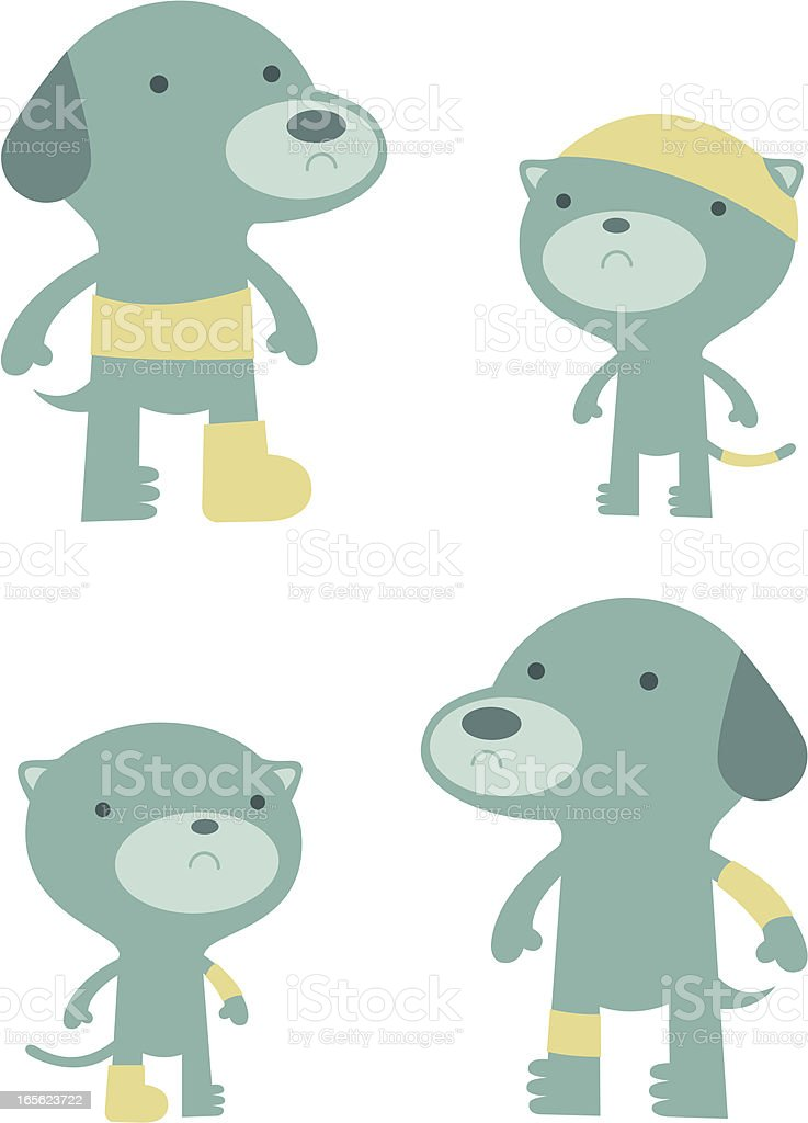 Dogs and Cats royalty-free dogs and cats stock vector art & more images of adhesive bandage