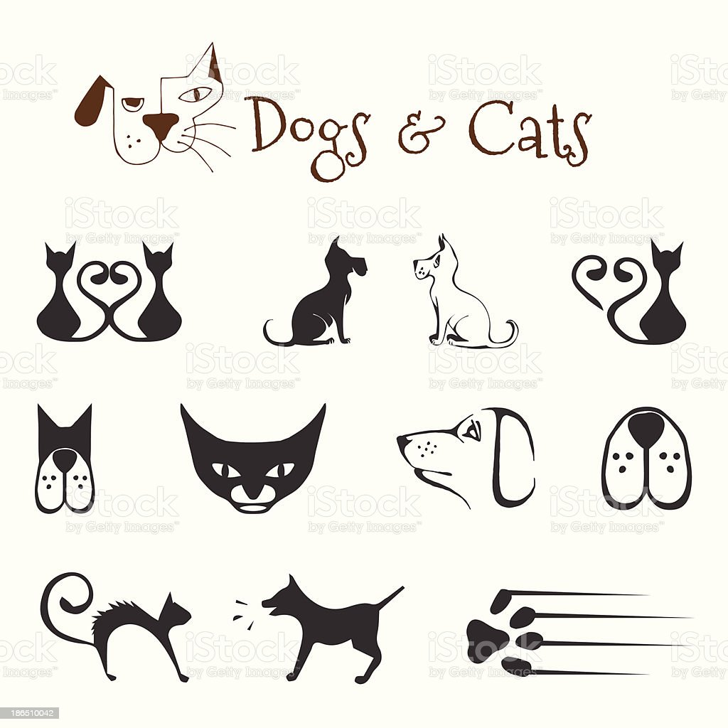 dogs and cats royalty-free dogs and cats stock vector art & more images of abstract