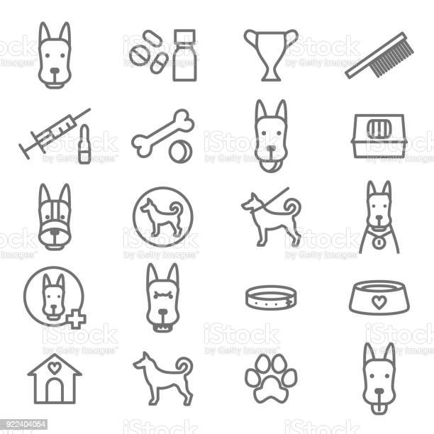 Dogs and puppy black thin line icon set vector vector id922404054?b=1&k=6&m=922404054&s=612x612&h=mdfxgit fwytyrzm5rgjirwjgijyheud8dbjyu 1upe=