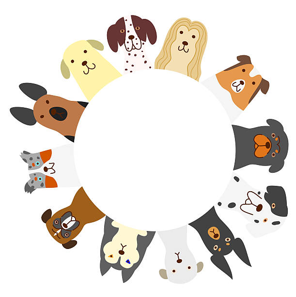 dogs circle ベクターアートイラスト