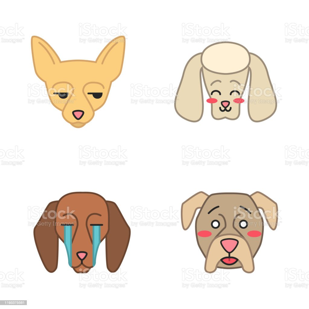 Dogs Cute Kawaii Vector Characters Stock Illustration Download Image Now Istock