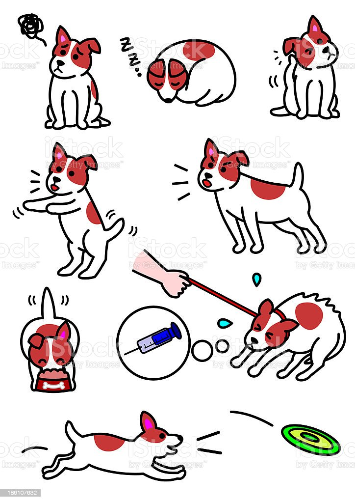 dog's  expressions royalty-free stock vector art