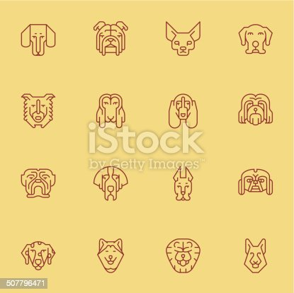 Vector file of Dogs Head Icons