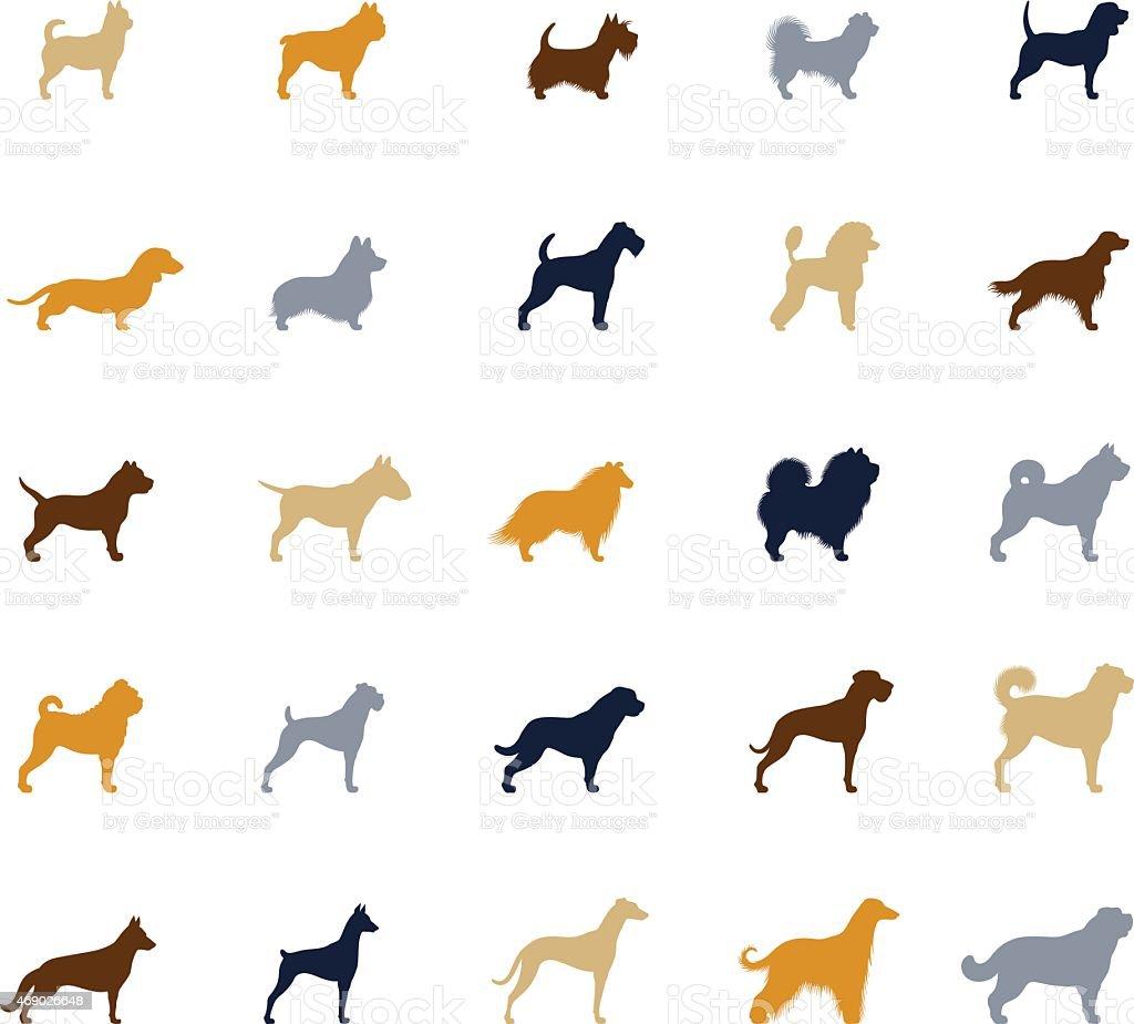 Dogs Icon Set vector art illustration