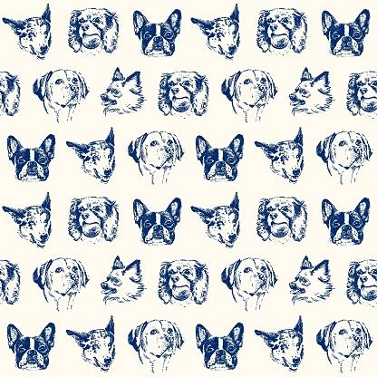Dogs seamless pattern - Illustration