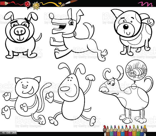 Dogs set cartoon coloring page vector id471587368?b=1&k=6&m=471587368&s=612x612&h=r3hqs2m d1fcydqfn59bp0ngaumznkfvj6eymdwmz58=