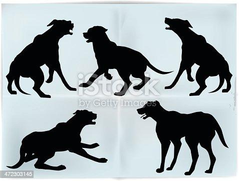 istock Dog's silhouettes 472303145