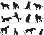 12 new usable dog silhouette.