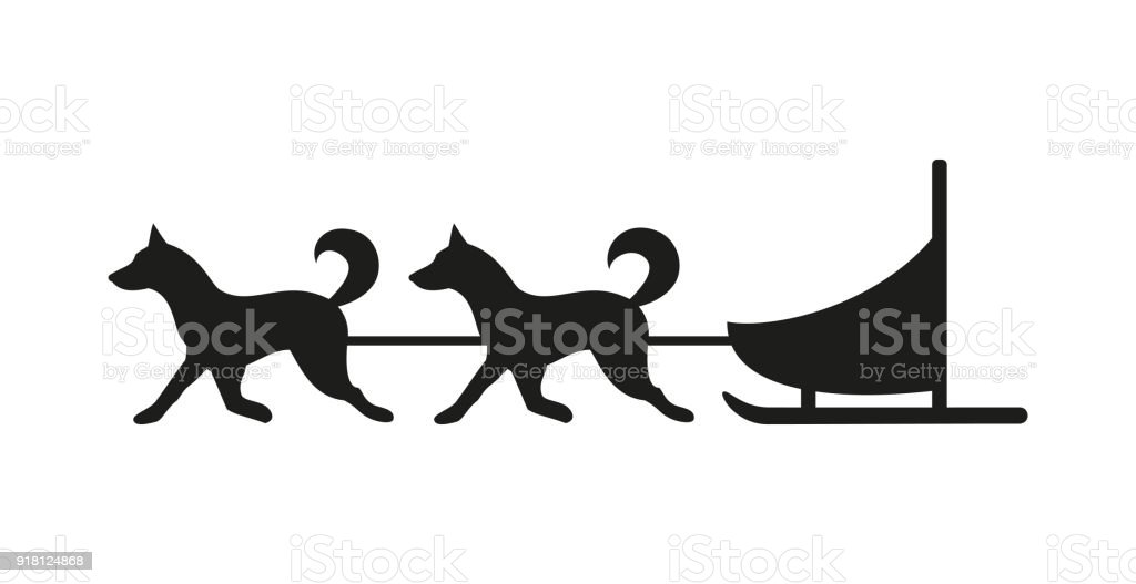 royalty free sled dog team silhouette clip art vector images rh istockphoto com  dog pulling sled clipart